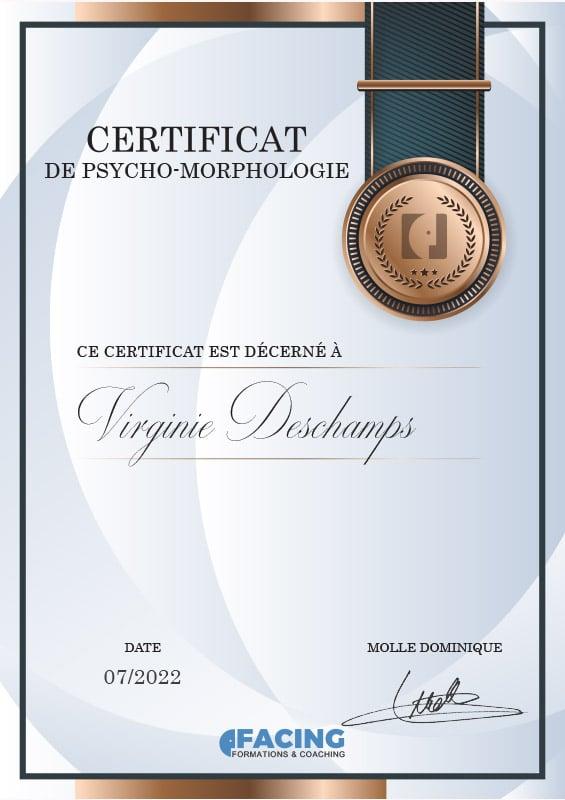 Certificat en psycho Morphologie - devenir coach morphologue - Formation Facing - Dominique Molle